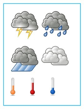 Weather worksheet - French vocabulary