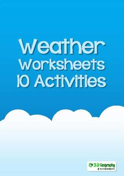 Weather worksheets - 8 activities