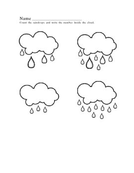 Weather~Raindrop Counting Worksheet