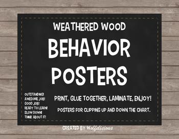 Weathered Wood Behavior Posters