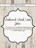 Weathered Wood Class Jobs *EDITABLE*