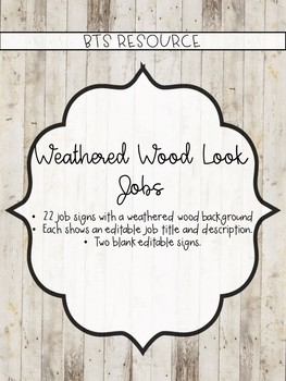 Weathered Wood Class Jobs *EDITABLE*