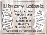 Weathered Wood Library Labels