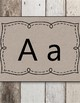 Weathered Wood Natural Print Alphabet