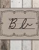 Weathered Wood Natural Shiplap Cursive Alphabet