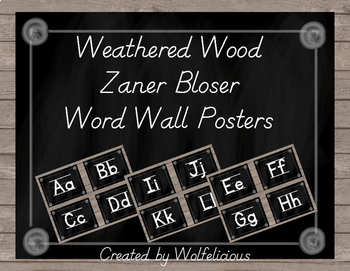 Weathered Wood Word Wall Posters Zaner Bloser