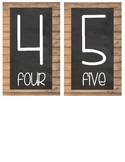 Weathered Word & Chalkboard Table Numbers