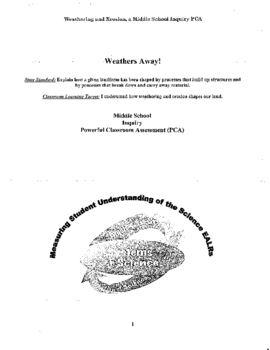 Weathering Assessment: Washington State Test Prep