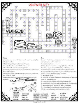 Weathering Crossword