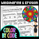 Weathering and Erosion Science Color By Number or Quiz