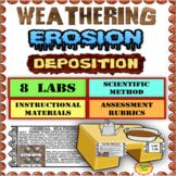 Weathering, Erosion, Deposition:  8 Labs Using the Scientific Method