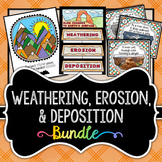 Weathering, Erosion, & Deposition BUNDLE - 3 Activities Included (Save 30%)