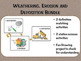 Weathering Erosion Deposition BUNDLE: Definition Matching, Stations, Project