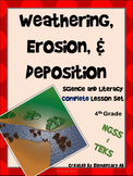 Weathering, Erosion, & Deposition:Complete Lesson Set Bundle (TEKS & NGSS) 4th