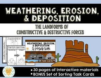 Weathering, Erosion, Deposition: Constructive & Destructive Forces Activities