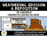 Weathering, Erosion, Deposition: Constructive & Destructive Forces Activities
