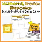 Weathering, Erosion & Deposition Digital Card Sort- Google Slides