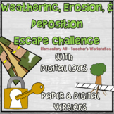Weathering, Erosion, & Deposition Digital Escape Challenge (with Paper Version)