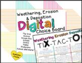 Weathering, Erosion & Deposition Google Slides Choice Board