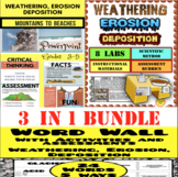 Weathering, Erosion, Deposition:  Hands-On Unit of Study Bundle