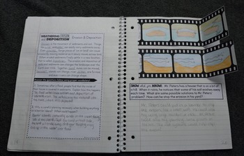 Weathering, Erosion, Deposition Interactive Notebook - Earth Science Series
