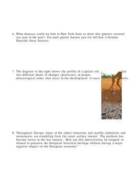 Weathering Erosion Deposition Landscapes Homework