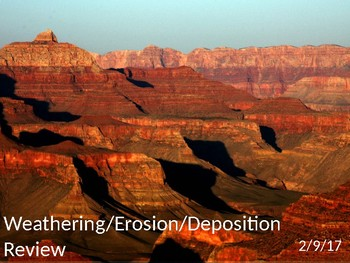 Weathering, Erosion & Deposition Review