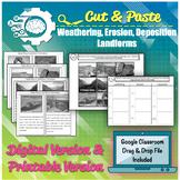 Card Sort: Weathering, Erosion, Deposition: Slow Changes Landform