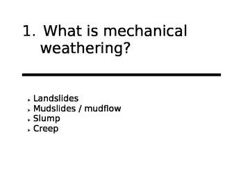 Weathering / Erosion / Deposition / Soil - Review Scavenger Hunt -er
