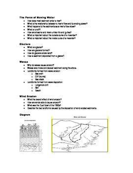 Weathering / Erosion / Deposition / Soil - Study Guide & Test Bundle