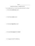 Weathering, Erosion, Deposition Test