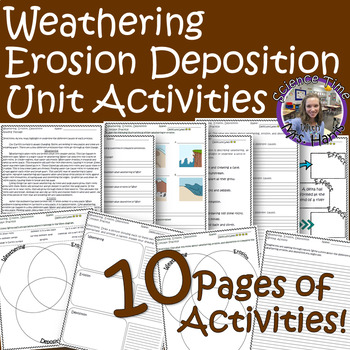 Weathering, Erosion, Deposition Unit(Reading, Worksheets, Writing)READY TO PRINT
