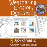 Weathering, Erosion, Deposition WORKSHEETS