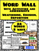 Weathering, Erosion, Deposition:  Word Wall and More