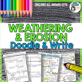 Weathering & Erosion Doodle and Write Graphic Organizer