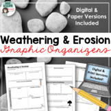 Weathering and Erosion Graphic Organizer - Digital and Paper Versions Included