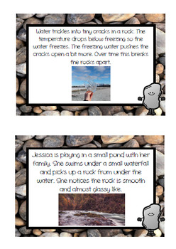 Weathering & Erosion Sorting Activity