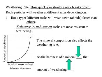 Weathering & Erosion Presentation (earth rocks)