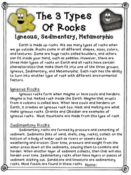 Weathering, Erosion, Rocks - passages, posters, flip flaps, interactive NB