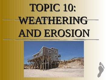 Weathering & Erosion Unit notes on ppt