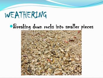 Weathering & Erosion Vocabulary PowerPoint