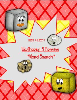Weathering & Erosion Word Search *FREEBIE*