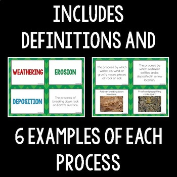 Weathering, Erosion, and Deposition Card Sort