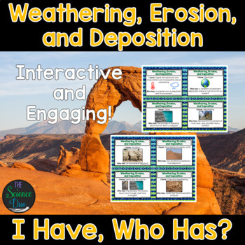 Weathering, Erosion, and Deposition Activity - I Have, Who Has?