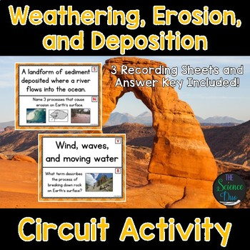 Weathering, Erosion, and Deposition - Around the Room Circuit