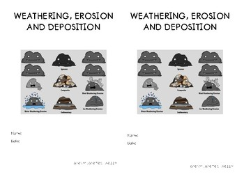 Weathering, Erosion and Deposition Booklet// Interactive Science Journal