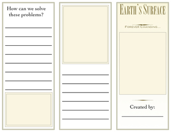 Weathering, Erosion and Deposition Brochure Template