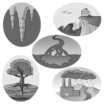Weathering and Erosion Clip Art: Set 2 of 2