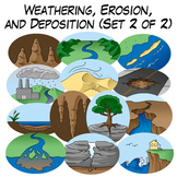Weathering, Erosion, and Deposition Clip Art: Set 2 of 2