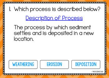 Weathering, Erosion, and Deposition - Digital Boom Cards™ Sort